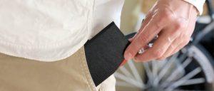 slim card case ブラック×オレンジ